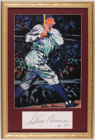 """LeRoy Neiman Signed """"The Babe"""" 15x22 Custom Framed Cut Display Inscribed """"93"""" (PSA COA) at PristineAuction.com"""