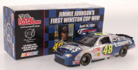 Jimmie Johnson Signed LE #48 Lowes First Win Chase The Race 2002 Chevrolet Monte Carlo with Template (JSA COA) at PristineAuction.com