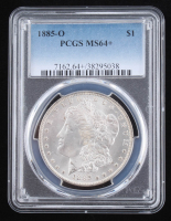 1885-O Morgan Silver Dollar (PCGS MS64+) at PristineAuction.com