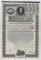 1971-72 New York Central & Hudson River Railroad Company Bank Bond with Uncut Sheet of (4) $17.50 Seventeen Dollars and Fifty Cents Bonds at PristineAuction.com