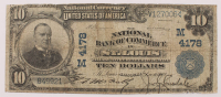 1902 $10 Ten-Dollar U.S. National Currency Large-Size Bank Note - The National Bank of Commerce in St. Louis, Missouri at PristineAuction.com