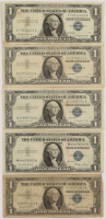 Lot of (5) 1935-57 $1 One-Dollar U.S. Silver Certificates at PristineAuction.com