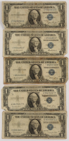 Lot of (5) 1935 $1 One-Dollar U.S. Silver Certificates at PristineAuction.com