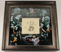 Brett Favre Signed LE Packers 36x36 Custom Framed Palm Print Display (UDA COA) at PristineAuction.com