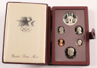 1984 United States Mint Olympic Prestige Proof Set with (6) Coins and Booklet at PristineAuction.com