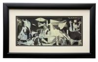 "Pablo Picasso ""Guernica"" 13x23 Custom Framed High-Quality Print Display at PristineAuction.com"