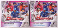 Lot of (2) 2020 Bowman Baseball Card Mega Box with (50) Cards Each at PristineAuction.com