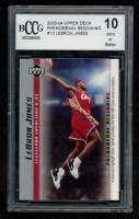 LeBron James 2003-04 Upper Deck Phenomenal Beginning #13 (BCCG 10) at PristineAuction.com