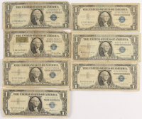 Lot of (7) 1935-57 $1 One-Dollar U.S. Silver Certificates at PristineAuction.com