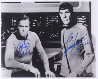 "William Shatner & Leonard Nimoy Signed ""Star Trek"" 11x14 Photo Inscribed ""Capt. Kirk"" & ""Spock"" (PSA Hologram) at PristineAuction.com"