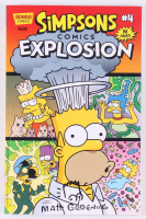 "Matt Groening Signed 2017 ""Simpsons Comics Explosion"" Issue #4 Bongo Comic Book With Hand-Drawn Sketch (Beckett COA) at PristineAuction.com"