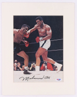 Muhammad Ali Signed 11x14 Custom Matted Print Display (PSA COA) at PristineAuction.com