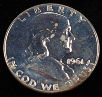 1961 50¢ Proof Franklin Silver Half-Dollar at PristineAuction.com
