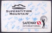 2006 Safeway International Field 13x22 Pin Flag Signed by (34) With Juli Inkster, Karrie Webb, Meg Mallon, Julieta Granada (Beckett LOA) at PristineAuction.com