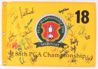 2006 PGA Championship Champions 13x20 Pin Flag Signed by (31) With Dow Finsterwald, Larry Nelson, Miguel Angel Jimenez, Mike Weir (Beckett LOA) at PristineAuction.com