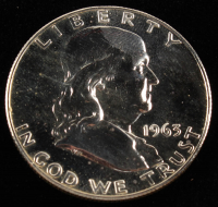 1963 50¢ Proof Franklin Silver Half-Dollar at PristineAuction.com