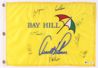 Arnold Palmer Invitational 13x20 Pin Flag Signed by (8) With Arnold Palmer, Corey Pavin, Ian Woosnam, Ernie Els (Beckett LOA) at PristineAuction.com