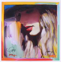 Taylor Swift & Peter Max Signed 22x22 Print (Beckett LOA) at PristineAuction.com