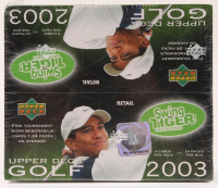 2003 Upper Deck Swing With Tiger Golf Box of (120) Cards at PristineAuction.com