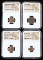 Lot of (4) Ancient Coins of the Roman Empire with Gratian & (3) House of Constantine (NGC Encapsulated) at PristineAuction.com