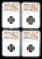 Lot of (4) Ancient Coins with Dates from 222 A.D. to 364 A.D. Includes Roman & Bithynia Era Coins (NGC Encapsulated) at PristineAuction.com