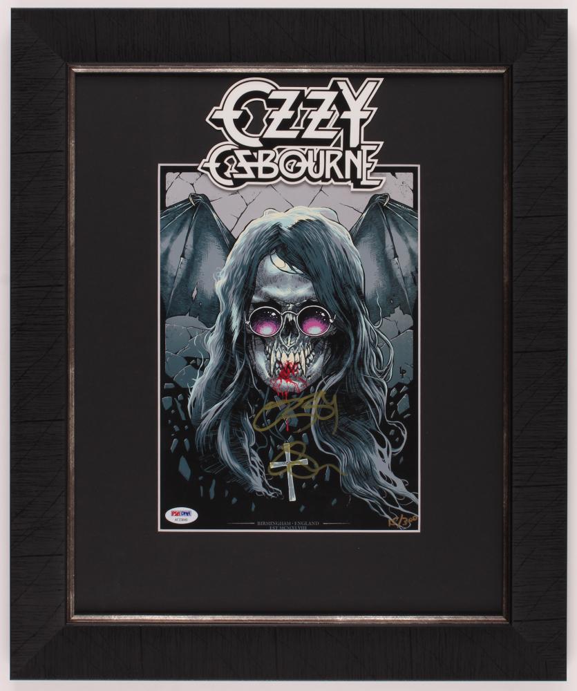 Ozzy Osbourne Signed LE 17x20.5 Custom Framed Print Display (PSA Hologram) at PristineAuction.com