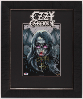 Ozzy Osbourne Signed LE 17x20.5 Custom Framed Print Display (PSA Hologram) at PristineAuction.com