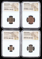 Lot of (4) Ancient Coins of the Roman Empire with Maximian, Arcadius, Probus & House of Constantine (NGC Encapsulated) at PristineAuction.com