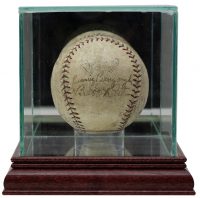 Babe Ruth & Benny Bengough Signed Baseball With High-Quality Display Case (JSA ALOA & Grey Flannel LOA) at PristineAuction.com