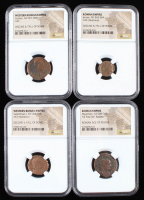 Lot of (4) Ancient Coins of the Roman Empire with Maximian, Jovian, Gratian & Valentinian (NGC Encapsulated) at PristineAuction.com