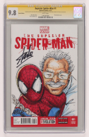"Stan Lee, Rob Leifeld & Alex Sinclair Signed 2013 ""Superior Spider-Man"" Issue #1 Marvel Comic Book with Hand-Drawn Sketch (CGC 9.8) at PristineAuction.com"