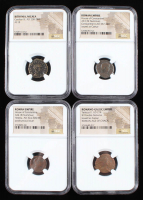Lot of (4) Ancient Coins with Dates from 238 A.D. to 340 A.D. Includes Roman & Bithynia Era Coins (NGC Encapsulated) at PristineAuction.com