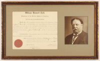 William Howard Taft & J.A. Fowler Signed 17.75x29.25 Custom Framed Document (JSA LOA) at PristineAuction.com