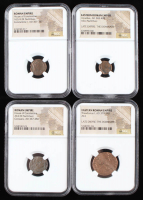 Lot of (4) Ancient Coins of the Roman Empire with Arcadius, Theodosius I & (2) House of Constantine (NGC Encapsulated) at PristineAuction.com
