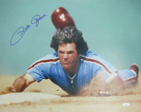 Pete Rose Signed Phillies 16x20 Photo (JSA COA) at PristineAuction.com