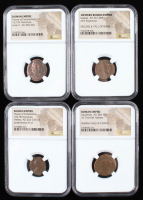 Lot of (4) Ancient Coins of the Roman Empire with Gratian, Diocletian, & (2) House of Constantine (NGC Encapsulated) at PristineAuction.com