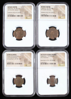 Lot of (4) Ancient Coins of the Roman Empire with Valentinian I, Gallienus, Maximian, & House of Constantine (NGC Encapsulated) at PristineAuction.com