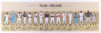 """Team of Dreams"" LE 11.75x36 Lithograph Signed by (15) with Tim Raines, Steve Carlton, Reggie Jackson, Charlie Sheen, Mark Grace, Frank Thomas, Hope Solo (MAB Hologram) at PristineAuction.com"