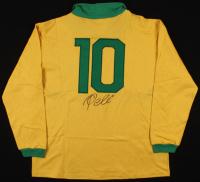 Pele Signed Team Brazil Long Sleeve Jersey (JSA ALOA) at PristineAuction.com