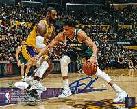 Giannis Antetokounmpo Signed Bucks 8x10 Photo (JSA COA) at PristineAuction.com