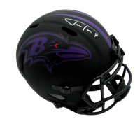 Justin Tucker Signed Ravens Eclipse Alternate Full-Size Speed Helmet (JSA COA) at PristineAuction.com