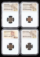 Lot of (4) Ancient Coins with Dates from 238 A.D. to 423 A.D. Includes Roman & Bithynia Era Coins (NGC Encapsulated) at PristineAuction.com