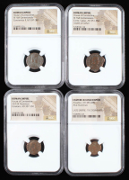 Lot of (4) Ancient Coins of the Roman Empire with Arcadius, & (3) House of Constantine (NGC Encapsulated) at PristineAuction.com