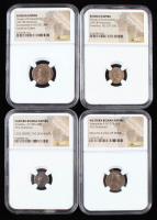 Lot of (4) Ancient Coins of the Roman Empire with Arcadius, Valentinian II, & (2) House of Constantine (NGC Encapsulated) at PristineAuction.com