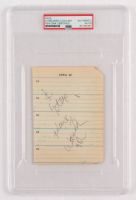 Willie Nelson & Judy Collins Signed 3.75x5.25 Planner Page (PSA Encapsulated at PristineAuction.com