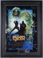 "1997 ""Star Wars: Return of the Jedi"" Special Edition 31.5x43.5 Custom Framed LE Poster Singed by (7) with Carrie Fisher, Mark Hamill, Kenny Baker, Peter Mayhew (JSA ALOA) at PristineAuction.com"