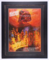 "Carrie Fisher & Peter Mayhew Signed ""Star Wars: The Empire Strikes Back"" 25x31 Custom Framed LE Coca-Cola Poster (JSA ALOA) at PristineAuction.com"