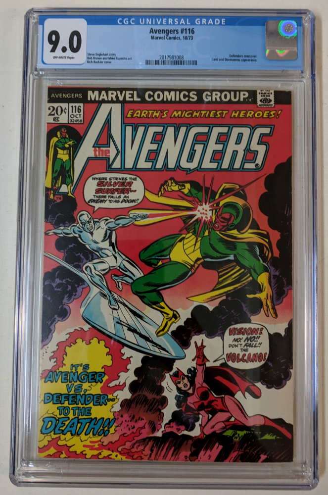 """1973 """"The Avengers"""" Issue #116 Marvel Comic Book (CGC 9.0) at PristineAuction.com"""