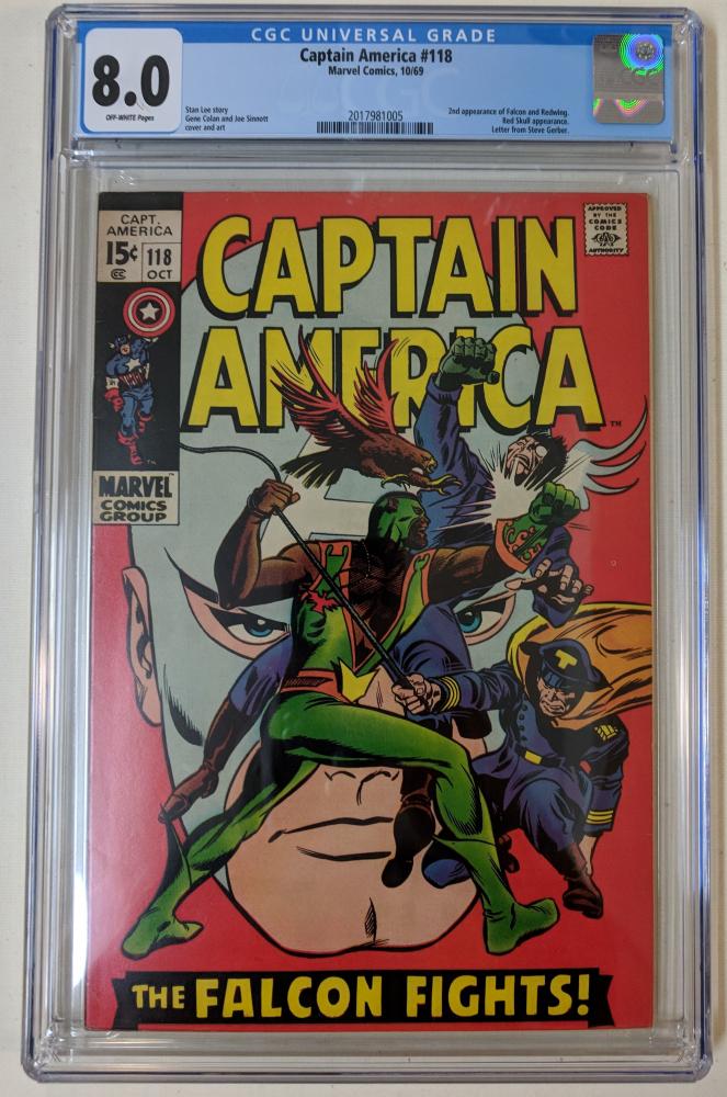 "1969 ""Captain America"" Issue #118 Marvel Comic Book (CGC 8.0) at PristineAuction.com"