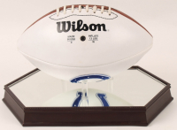 Johnny Unitas & Andrew Luck Signed Colts Logo Football With Display Case (JSA ALOA) at PristineAuction.com